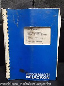 Cincinnati Parts Manual Sabre 500 750 1000 ero Vmc Cnc 1995