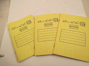 Rite In The Rain 301 All weather Stapled Transit Notebook Yellow 3 Pack