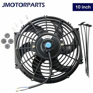 1pc 10 Inch Universal Slim Pull Push Racing Electric Radiator Engine Cooling Fan