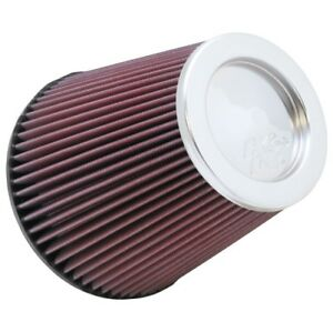 K n Rf1041 Round Tapered Universal Air Filter Dia F 6 152 Mm