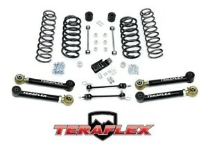 Teraflex Tj 3 Suspension Coil Lift Kit W Lower Flexarms 97 06 Jeep Wrangler