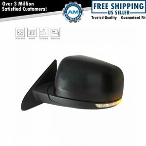 Exterior Power Heated Folding W Led Signal Mirror Black Smooth Lh Side For Jeep