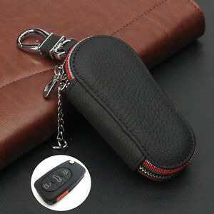 1pcs Auto Car Smart Remote Control Key Fob Holder Bag Case Cover Leather Keybag