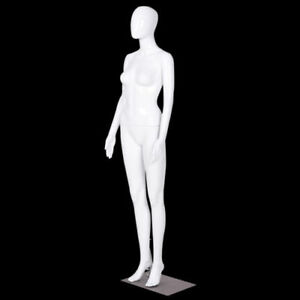 Newfemale Mannequin Plastic Full Bodydress Form Display Egghead High Gloss White