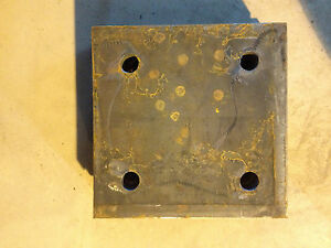 Steel Plate 1 X 12 X 12 With 4 Holes 1 1 8 Od 7 3 8 Bc