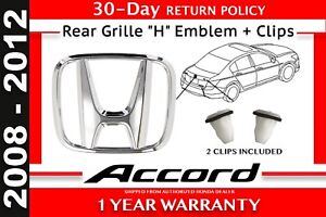 Genuine Oem Honda Accord 4 dr Sedan Rear Grille h Emblem Clips 2008 2012