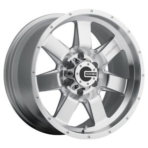 17x9 Mamba M14 6x139 7 Et12 Machined Face Silver Rims set Of 4