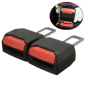 2x Universal Car Auto Safety Adjustable Seat Belt Clip Extension Extender Buckle