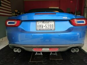 Roadster Sport Axleback Exhaust quad Tips For The 17 Fiat 124 incl Abarth