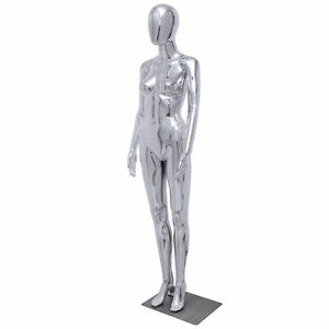 New Female Full Body Mannequin Plastic Abstract Glossy W base Egg Head