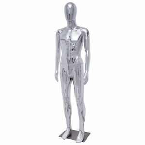 New Male Full Body Mannequin Plastic Abstract Glossy W baseegg Head