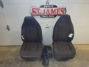 1997 2002 Jeep Wrangler Front Grey Cloth Seats With Console Shift Cover Gray