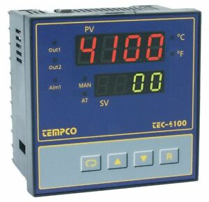 Tempco Temperature Controller 1 4 Din Size 90 To 250vac Input Voltage Switch