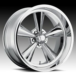 17x8 Us Mag Standard U104 5x4 75 Et1 Chrome Rims New Set Of 4