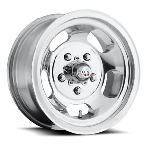 15x10 Us Mag Indy U101 5x4 75 Et 50 Polished Rims New Set Of 4