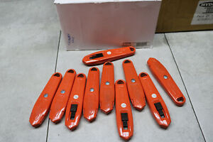 10x Lot Hyde 42068 Switch Blade Utility Knife Orange Self Retracting