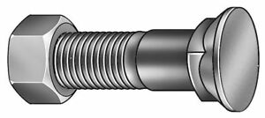2 1 2 Carbon Steel Plow Bolt With Zinc Finish Pk10 1cfp7