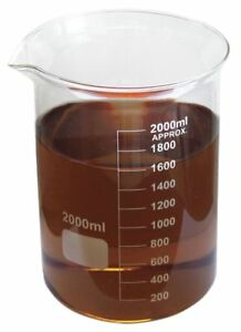 Beaker Low Form Glass Capacity 2000ml Graduation Subdivisions 200ml