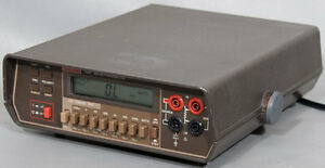 Keithley 580 Micro ohmmeter W opt 01 ohm Meter With Kelvin Leads