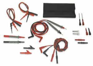 Test Lead Kit For Use With Multimeters And Clamp On Ammeters 4wre7