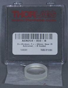 New Thorlabs Acn254 050 b F 50 0 Mm 1 Achromatic Doublet Arc 650 1050 Nm