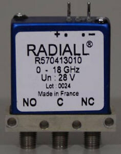 Radiall Dc 18 Ghz 28v Spdt Rf Sma Coaxial Switch R570 413 010 r570413010