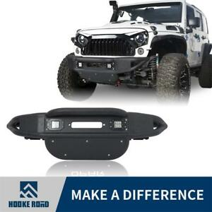 Lotus Upgraded Tubular Front Bumper W Winch Plate For Jeep Wrangler 2007 2018 Jk