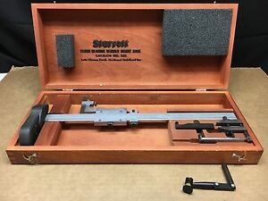 Ls Starrett 255z 12 Flush Reading Vernier Height Gage Gauge With Case