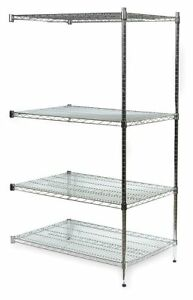 36 X 18 X 63 Stainless Steel Wire Shelving Unit Silver Number Of Shelves 4