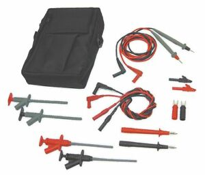 Test Lead Kit For Use With Multimeters And Clamp On Ammeters 4wre5