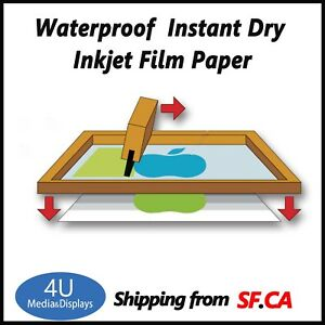 100 Sheets 13 X 18 waterproof Inkjet Silk Screen Printing Transparency Film