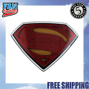 Batman V Superman Dawn Of Justice Domed Chrome Car Decal Superman Logo