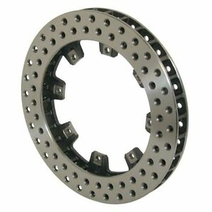 Wilwood 160 5863 Ulltralite 32 Vane Brake Rotor Drilled Iron 8 X 7 0 Bolt Circle