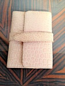 Brioni Pale Pink Croc Leather Agenda Cover Nwt 1 200 Size S