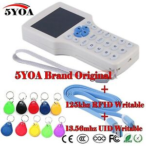 10 Frequency Copy Encrypted Nfc Smart Card Rfid Copier Id ic Reader Writer Eng
