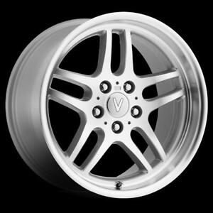 18x8 13 Replica Bmw Tt M parallel Silver Machined Wheel Rim 5x120 qty 4