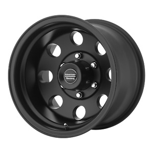 17x9 12 American Racing Baja Satin Black 6x139 7 Wheels Rims qty 4