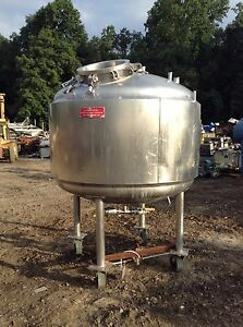 Vesselcraft 500 Gallon Jacketed Stainless Steel Reactor Tank 50psi At 300 f