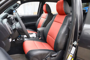 Toyota Tacoma Sport Trd 09 15 Black red S leather Custom Fit Front Seat Cover