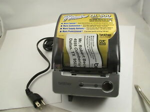 Brother P touch Ql 500 Manual cut Pc Label Printer