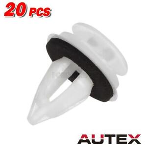 20 Grey Door Panel Clip Seal Ring For Bmw Center Console Mount Fastener Clip