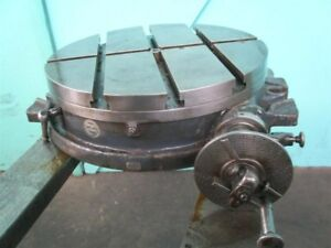 Brown Sharpe 18 Rotary Table Good Condition With Dividing Attachment