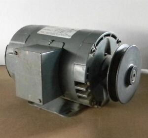 Marathon 1hp 3 Ph Drip proof Motor With Browning Pulley
