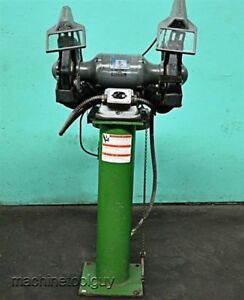 Baldor 10 Grinder Industrial Deluxe Pedestal Grinder buffer With Dust Collector