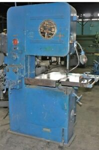 Doall V 26 Vertical Contour Band Saw 26 Throat