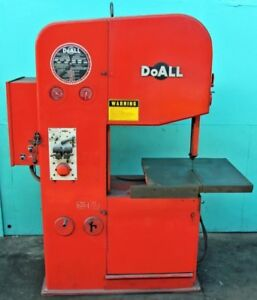 Doall 26 Vertical Contouring Band Saw With Blade Welder