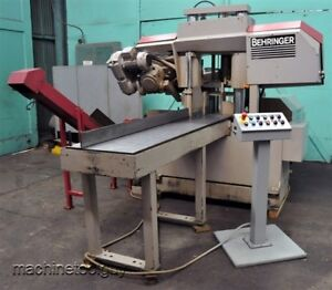 Behringer Saw 11 8 X 11 8 Horizontal Cnc Automatic Band Saw Hbp 303a