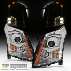 Left Right Headlamps For 2010 2016 Cadillac Srx Factory Halogen Model Headlights