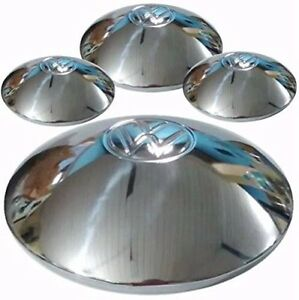 Vw Bug Wheel Hub Cap Center Cover 4pcs Chromed Volkswagen Beetle Type2 Guia 5lug