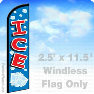 Ice Windless Swooper Flag Feather Banner Sign 2 5x11 5 Bf
